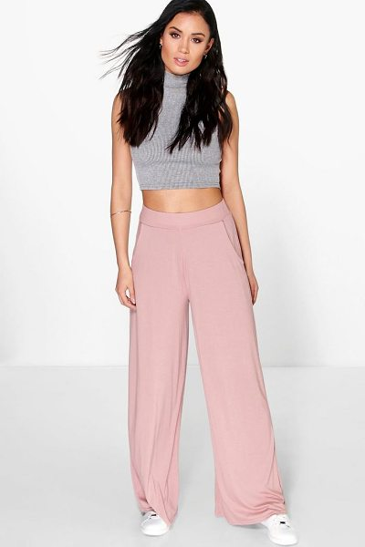 Boohoo Matilda Pocket Side Wide Leg Trousers in sand - Trousers are a more sophisticated alternative to...