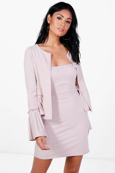 Boohoo Mavis Gingham Dress & Frill Jacket Co-ord in rose - Co-ordinates are the quick way to quirky this seasonMake...