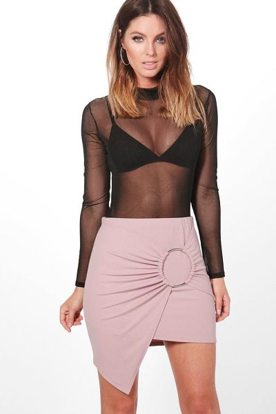 Boohoo Maya Asymetric Large O Ring Mini Skirt in mauve - Skirts are the statement separate in every wardrobe This...