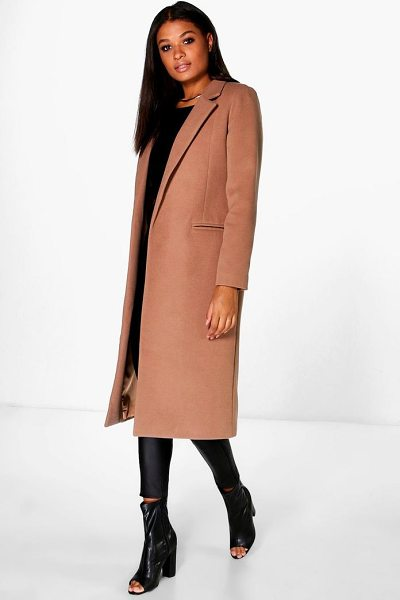 Boohoo Tailored Coat in camel - Wrap up in the latest coats and jackets and get...