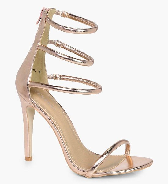 Boohoo 3 Band Heels in gold