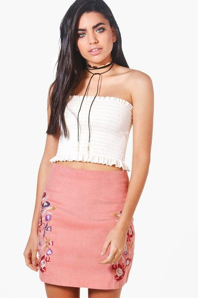 Boohoo Embroidered Cord A Line Skirt in rose - Skirts are the statement separate in every wardrobe This...