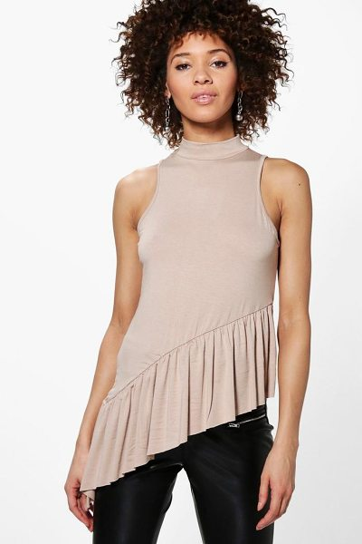 BOOHOO Mila Ruffle Hem Asymmetric Vest - Steal the style top spot in a statement separate from...