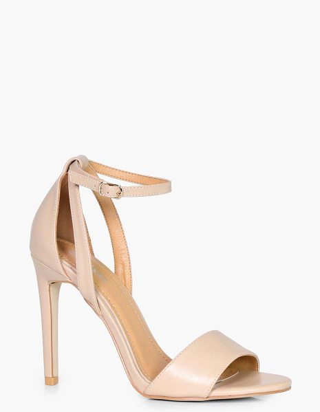 Boohoo Mollie Plain Two Part Heel in nude