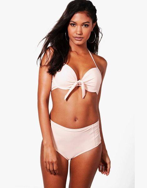 Boohoo Monaco Mix & Match Underwired Top in nude - Make a splash in our stylish swimwearBagging yourself...
