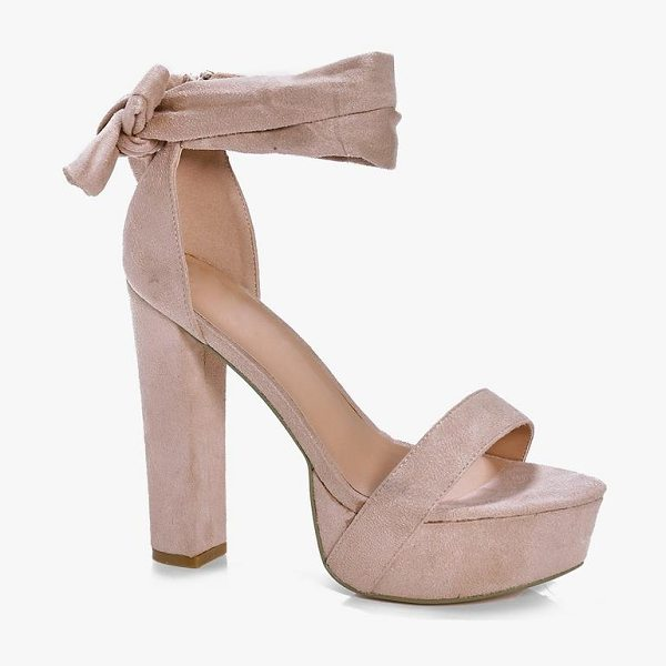 Boohoo Two Part Platform Heels in nude - We'll make sure your shoes keep you one stylish step...
