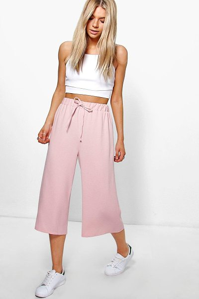 BOOHOO Nicia Tie Waist Crepe Culottes - Trousers are a more sophisticated alternative to...