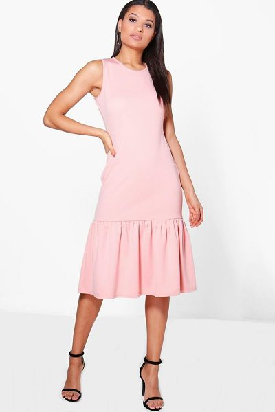 BOOHOO Olivia Drop Waist Peplum Shift Dress - Dresses are the most-wanted wardrobe item for...