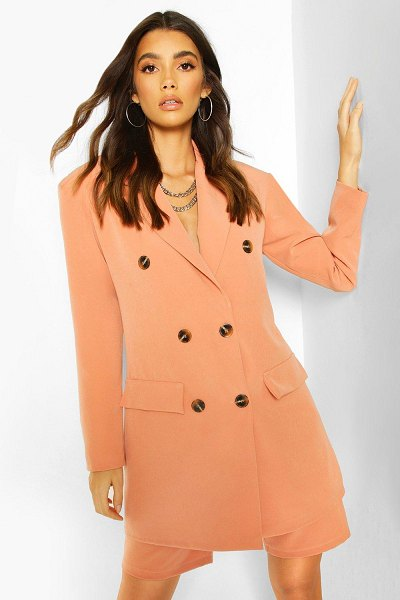 Boohoo Oversized Dad Blazer in coral