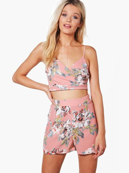 BOOHOO Penny Floral Wrap Top & Shorts Co-ord - Co-ordinates are the quick way to quirky this seasonMake...