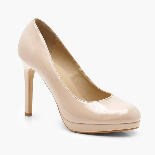 Boohoo Platform Court Shoes in nude - We'll make sure your shoes keep you one stylish step...