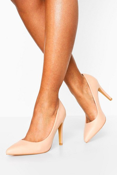 Boohoo Pointed Toe Courts in nude