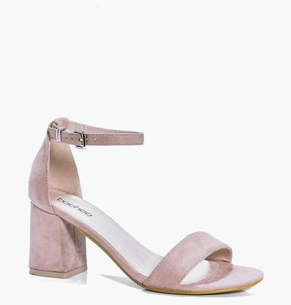 Boohoo Low Block Heel Two Parts in nude