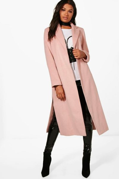 Boohoo Tailored Coat in dusky pink - Wrap up in the latest coats and jackets and get...