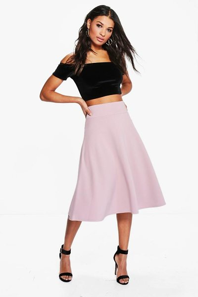 Boohoo Royah Deep Waistband Full Midi Skirt in mauve - Forget your jeans and opt for a day skirt on your...