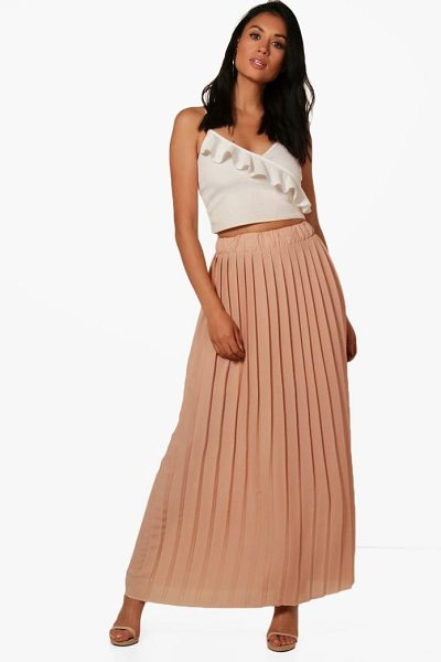 Boohoo Ruby Pleated Chiffon Maxi Skirt in rose - Skirts are the statement separate in every wardrobe This...