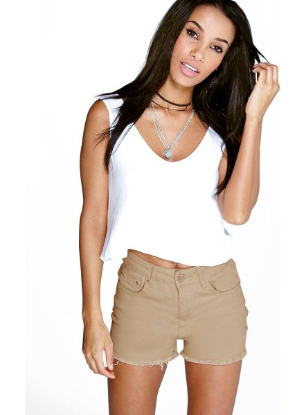 Boohoo Sally Denim Hotpants in stone - Parade your pins in a pair of shortsA versatile...