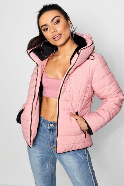 BOOHOO Quilted Jacket in pink - Wrap up in the latest coats and jackets and get...