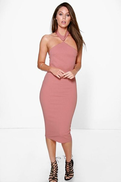 Boohoo Serena Cutaway Neckline Detail Bodycon Dress in rose - Dresses are the most-wanted wardrobe item for...