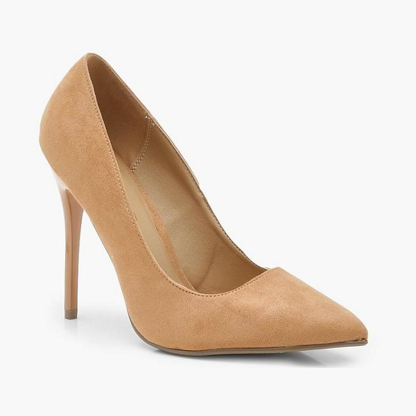 Boohoo Skin Tone Court Shoes in tan - We'll make sure your shoes keep you one stylish step...