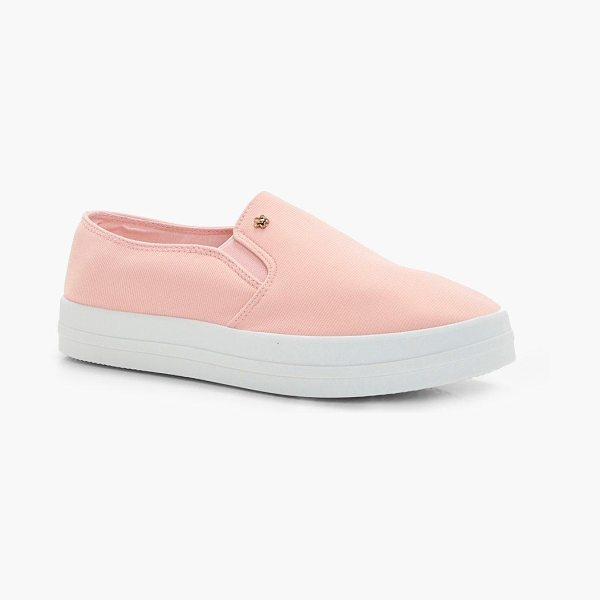 Boohoo Sofia Slip On Skater in blush - We'll make sure your shoes keep you one stylish step...