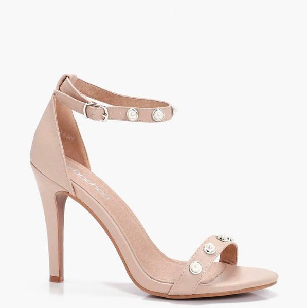 BOOHOO Sophia Pearl Trim 2 Part Heels - We'll make sure your shoes keep you one stylish step...
