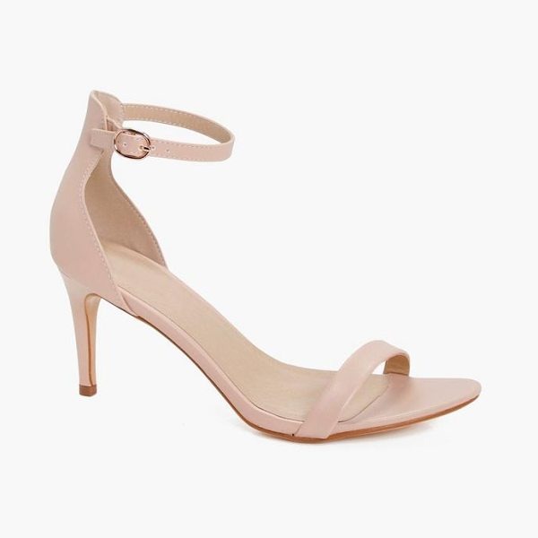 Boohoo Mid Heel 2 Parts in nude - Strappy, caged, laced-up, or adorned in stand-out...