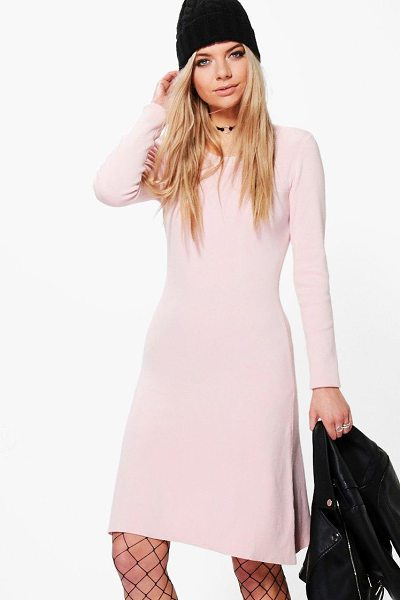 Boohoo Sophie Skinny Fit Bodycon Knitted Dress in rose - Sophie Skinny Fit Bodycon Knitted Dress rose