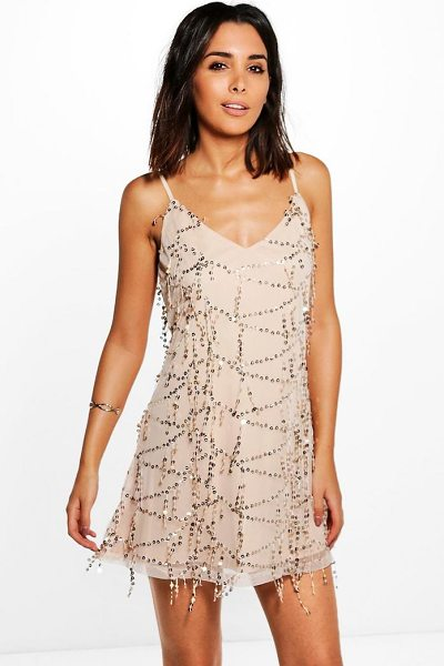 BOOHOO Taylor Strappy Sequin Swing Dress - Dresses are the most-wanted wardrobe item for...