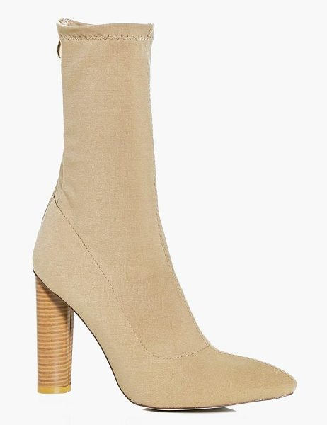 BOOHOO Tia Cylinder Heel Pointed Sock Boot - We'll make sure your shoes keep you one stylish step...