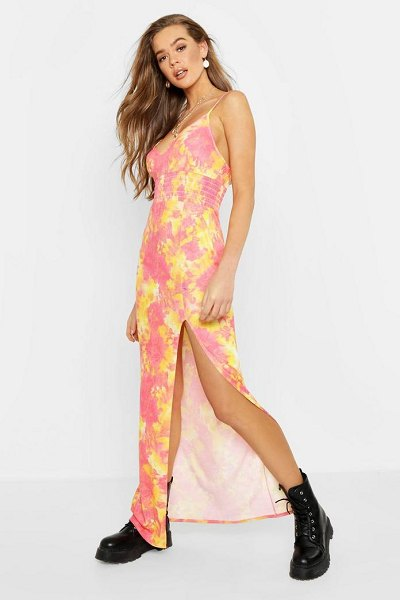 Boohoo Tie Dye Shearing Maxi Dress in pink - Dresses are the most-wanted wardrobe item for...