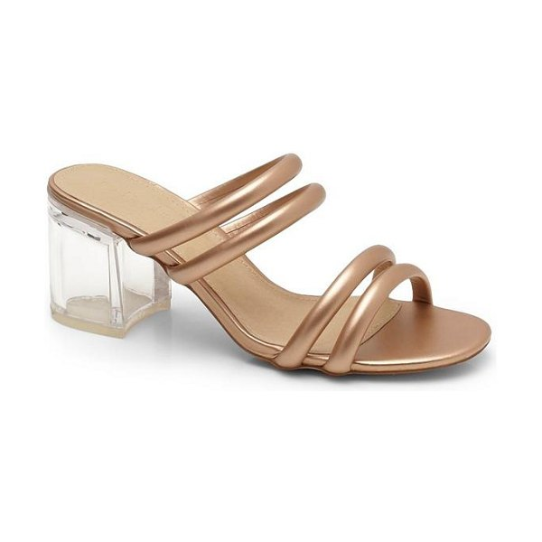 Boohoo Tubular Perspex Heel Mules in rose gold - We'll make sure your shoes keep you one stylish step...