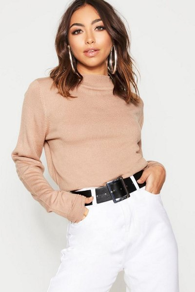 Boohoo Turtle Neck Jumper in camel - Nail new season knitwear in the jumpers and cardigans...