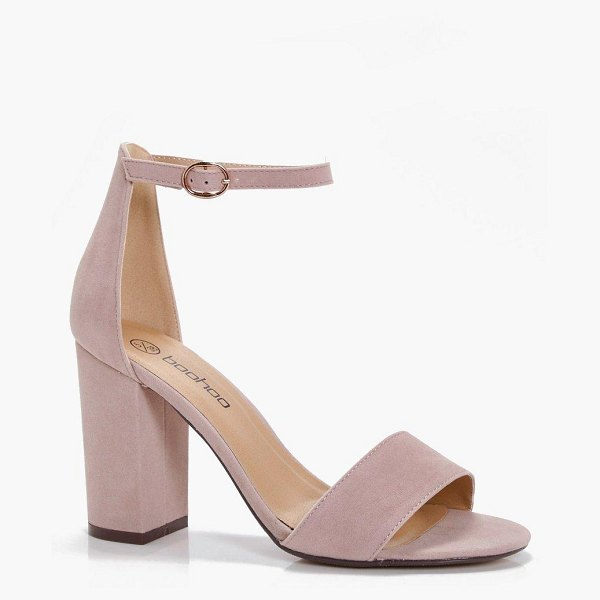 Boohoo Two Part Block Heels in taupe