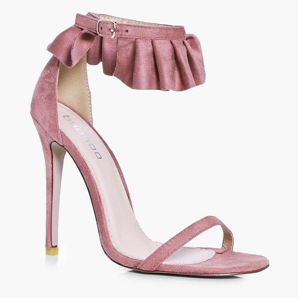 Boohoo Vanessa Frill Cuff Two Part Sandals in blush - We'll make sure your shoes keep you one stylish step...