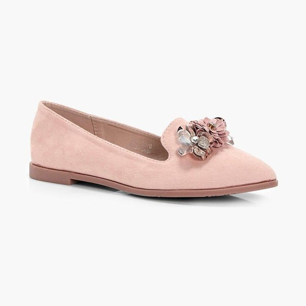 Boohoo Wendy Embellished Slipper Ballets in blush - We'll make sure your shoes keep you one stylish step...