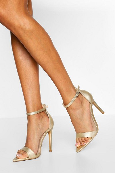 Boohoo Wide Width Pointed Toe Two Parts in gold
