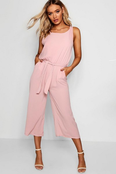 Boohoo Woven Sleeveless Culotte Jumpsuit in rose