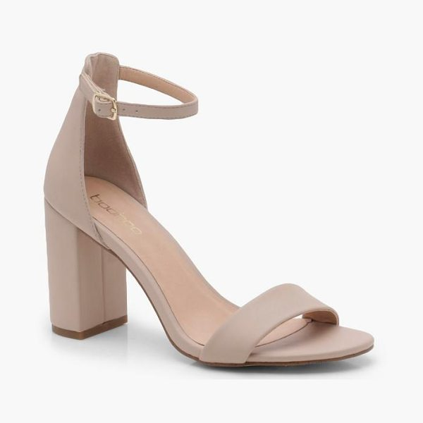 Boohoo 2 Part Block Heels in nude - We'll make sure your shoes keep you one stylish step...
