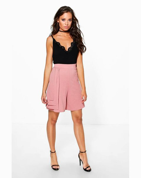 BOOHOO Zoe Longer Length Triple Tiered Shorts - Parade your pins in a pair of shortsA versatile...