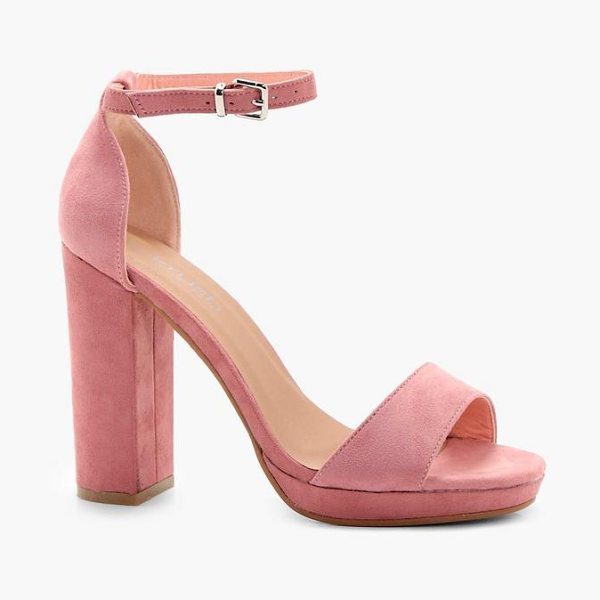 Boohoo Platform Heels in blush - We'll make sure your shoes keep you one stylish step...