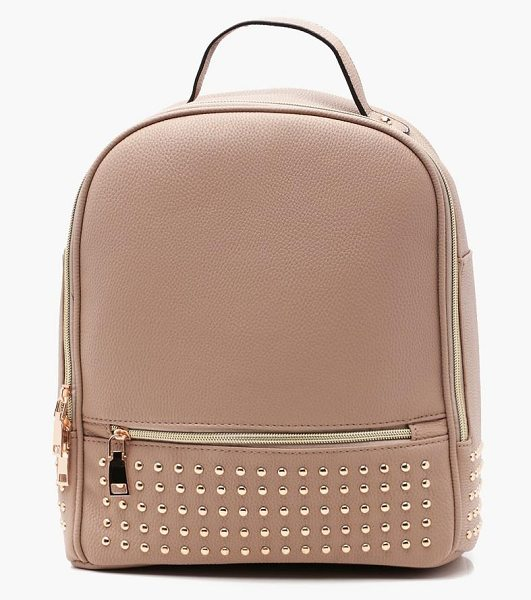 BOOHOO Zoe Stud And Zip Front Rucksack - Add attitude with accessories for those fashion-forward...