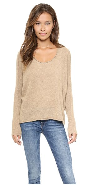 Bop Basics Roxboro cashmere sweater in ecru - Shopbop's own exclusive label. Dropped shoulder seams...