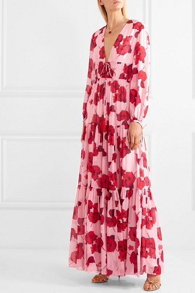 Borgo De Nor freya floral-print silk-georgette maxi dress in pink