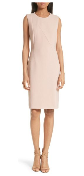BOSS demisana sheath dress in primrose - A sleek sheath that will take you from the office to...