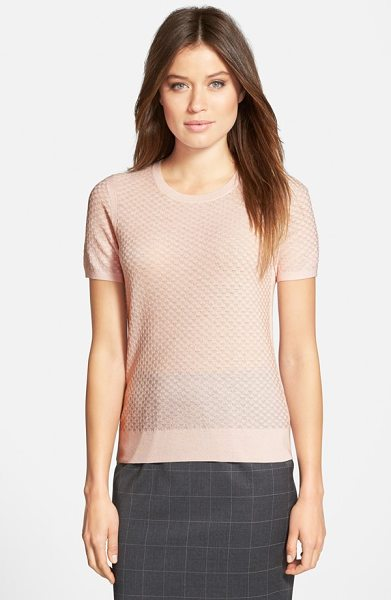 BOSS fabila wool crewneck sweater in shell pink