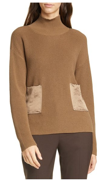 BOSS faonia cotton & cashmere sweater in brown