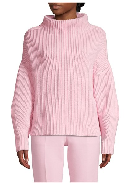 BOSS faya mockneck wool-rich sweater in light rose - EXCLUSIVELY AT SAKS FIFTH AVENUE. Superb mock-neck...
