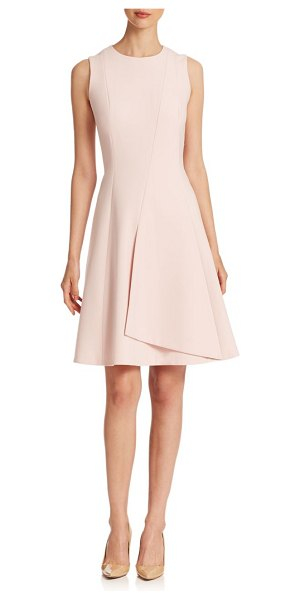 Boss Hugo Boss Dileti dress in shellpink - Strategically seamed ponte shapes this demure A-line...
