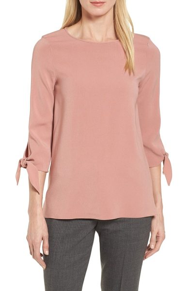 BOSS ivimea tie sleeve blouse - Fluttery ties at the cuffs bring a modern feminine twist to...